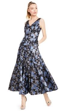Adrianna Papell Jacquard Trumpet Dress