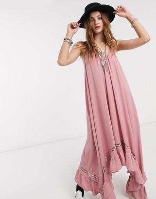 Free People amor amor maxi slip dress-Pink