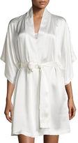 Natori Jasmine Short Silk Wrap Robe
