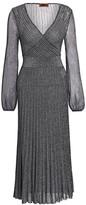 Missoni Operato Lame Faux Wrap Dress