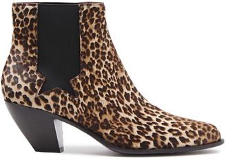 Golden Goose Leopard-print Calf Hair Ankle Boots