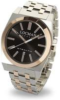 Locman Men's 43mm Two Tone Steel Bracelet Quartz Analog Watch 02010RBKF5N0BAR