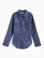 Splendid Girl Dotted Denim Shirt