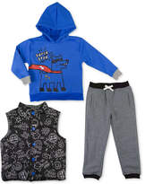 Nannette 3-Pc. Hoodie, Vest & Pants Set, Toddler Boys (2T-5T)