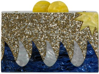 Elizabeth Sutton Sea Vibes Acrylic Glitter Clutch