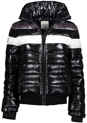 SAM. Starburst Single Stripe Down Nylon Puffer Jacket