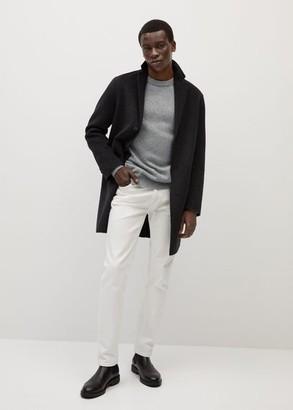 MANGO MAN - Flecked wool sweater ecru - S - Men