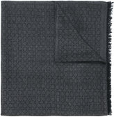 Salvatore Ferragamo Gancio monogram scarf - men - Silk/Cashmere/Wool - One Size