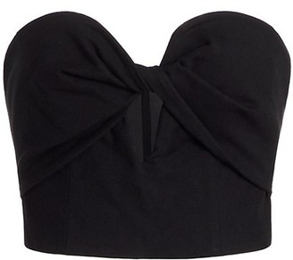 AMUR Arianna Keyhole Strapless Cropped Top