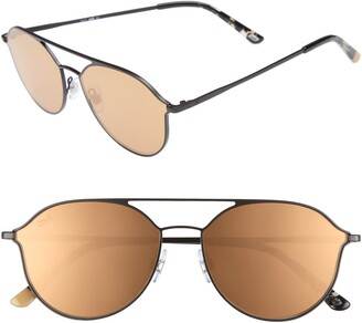Web 59mm Metal Aviator Sunglasses