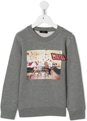 No21 Kids Motel Print Sweatshirt
