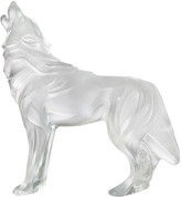 Lalique Clear Wolf Sculpture