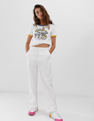 Santa Cruz wide leg skate chino-White