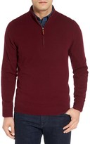 Nordstrom Men's Big & Tall Cashmere Quarter Zip Sweater