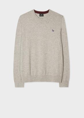 Men's Stone Zebra Logo Cotton-Blend Sweater
