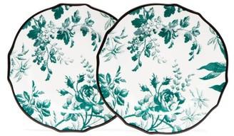 Gucci Herbarium Porcelain Dessert Plates - Green Multi