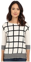 Christin Michaels Virginia Grid Cashmere Sweater