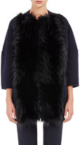 Barneys New York Women's Fur-Front Melton Coat