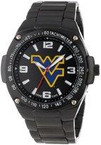 Game Time Unisex COL-WAR-WVU Warrior Black Ion-Plated 3-Hand West Virginia Universty Watch