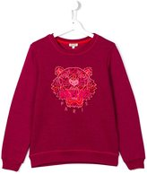 Kenzo 'Tiger' sweatshirt - kids - Cotton/Polyester - 16 yrs