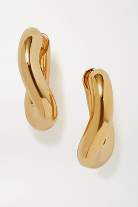 Balenciaga Loop Gold-tone Hoop Earrings - one size