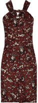 Etoile Isabel Marant Aba Printed Cotton-voile Mini Dress - Burgundy