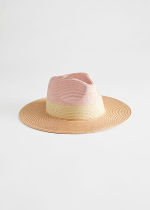 And other stories Colour Block Straw Hat