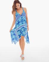 Chico's True Blue Handkerchief Swim Cover-up Dress