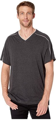 Tommy Bahama Cotton Modal Heather Lounge Tee (Black Heather) Men's T Shirt