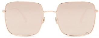 Christian Dior Diorstellaire1 Square Metal Sunglasses - Gold