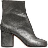 Maison Margiela 80mm Tabi Metallic Suede Boots