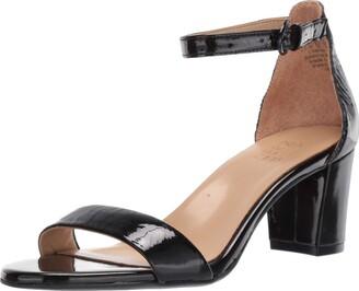 Naturalizer Womens Vera Black Patent Heeled Sandals 12 W