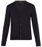 Prada V-neck fine-knit wool cardigan