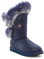 Australia Luxe Collective Nordic Angel Short Genuine Shearling Boot With Genuine Rabbit Fur Trim
