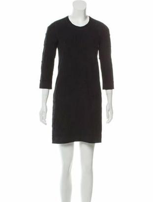Chanel Paris-Byzance Wool Dress Black