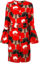 P.A.R.O.S.H. floral flared cuff coat - women - Polyester/Spandex/Elastane - XS