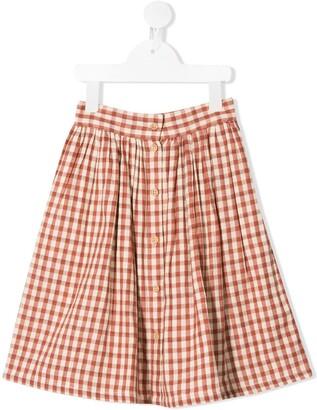 Buho Gingham Mini Skirt