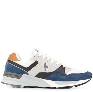 Polo Ralph Lauren Low Top Panelled Logo Sneakers