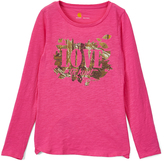 Carhartt Raspberry 'Love to Hunt' Slub Tee - Girls