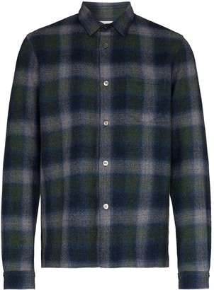 John Elliott check print flannel shirt