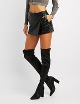 Charlotte Russe Pointed Toe Over-The-Knee Boots