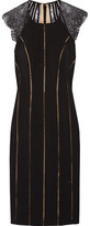 Catherine Deane Evette Lace-Paneled Ponte Dress