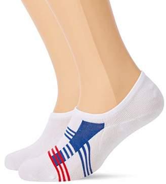 Tommy Hilfiger Men's TH STRIPE FOOTIE 2P Ankle Socks,6/8 (pack of 2)