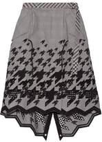 Sacai Asymmetric Broderie Anglaise Cotton-Blend Skirt