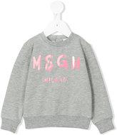 MSGM logo print sweatshirt - kids - Cotton/Spandex/Elastane - 9 mth