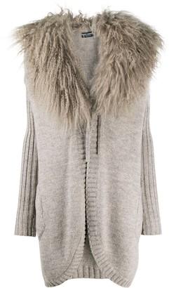 Dolce & Gabbana Contrast Collar Knitted Cardigan