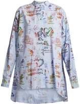 Vivienne Westwood Grateful-print cotton circle shirt