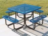 Tucker Char-Log Metal Picnic Table Murphy Pet Color: Blue/Blue