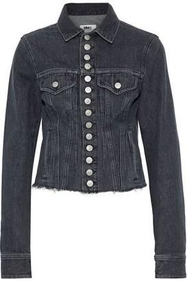 MM6 MAISON MARGIELA Cropped Frayed Denim Jacket