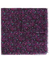 Saint Laurent Floral Print Scarf - Pink